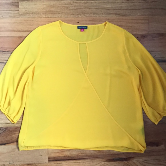 Vince Camuto Tops - Vince Camuto yellow blouse